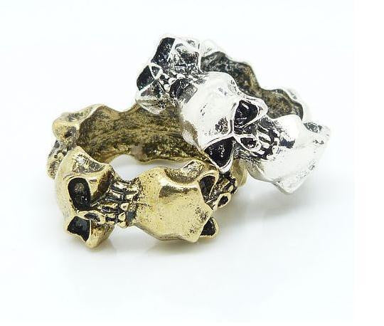 Antique Metal Skull Ring - HELLO PARRY Australian Fashion Label