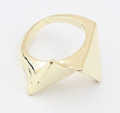 Pyramid Gold Ring - HELLO PARRY Australian Fashion Label