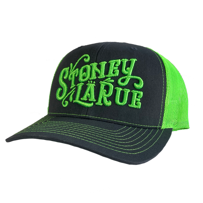Embroidered Logo Hat - Black/Green