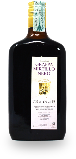 Grappa al Mirtillo Nero