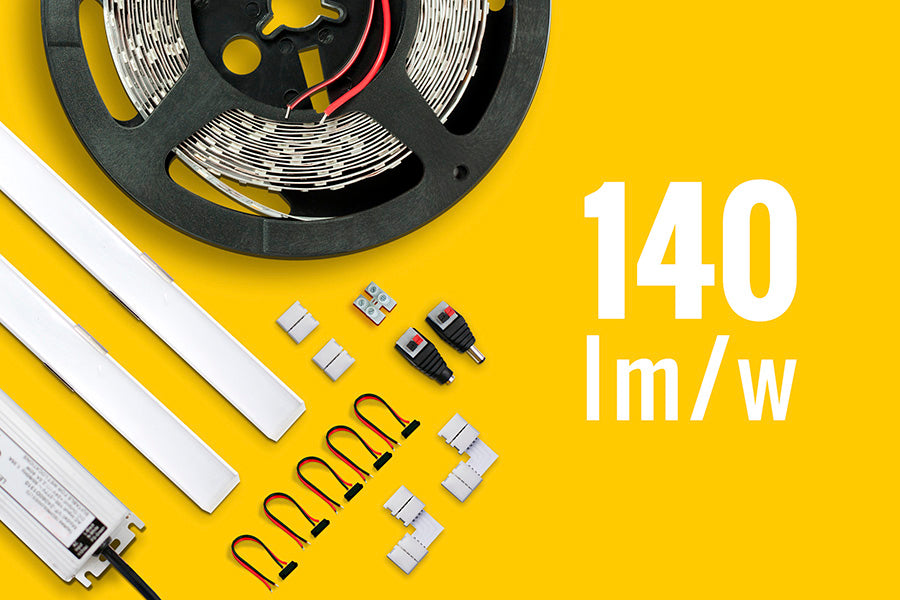 Kit de iluminación LED Ambiental 140 lm/w para Interiores
