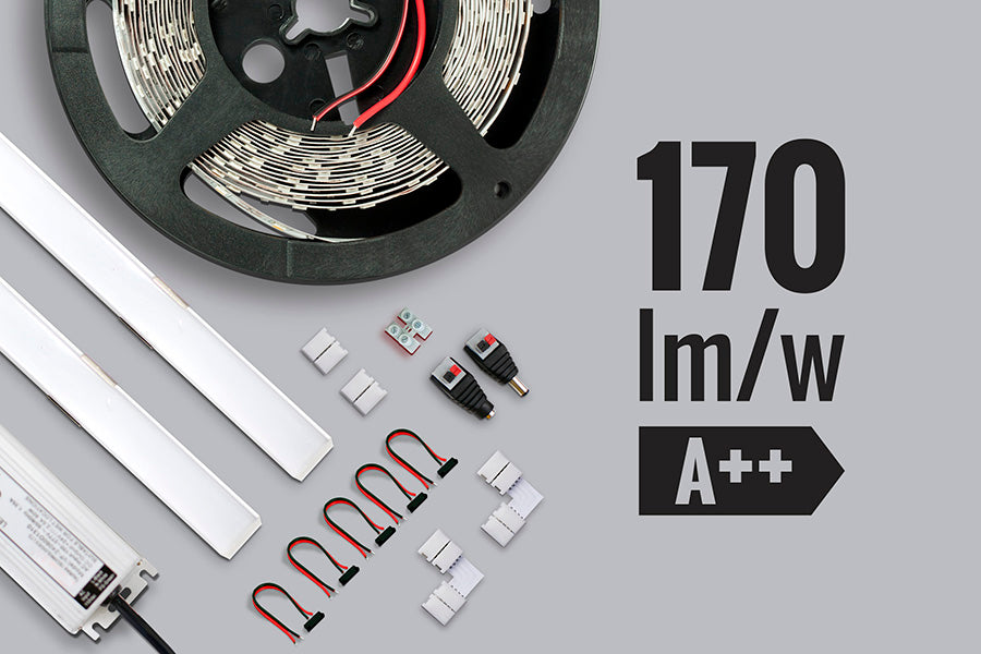Kit de iluminación LED Ambiental 170 lm/w para Interiores