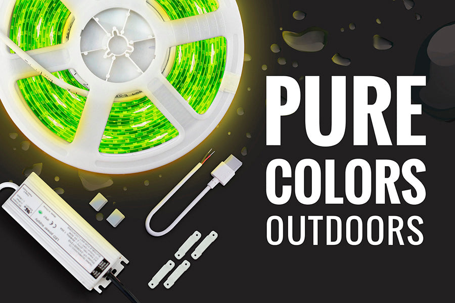 Kit de iluminación LED decorativo Colores Puros RGB 4040 para Exteriores