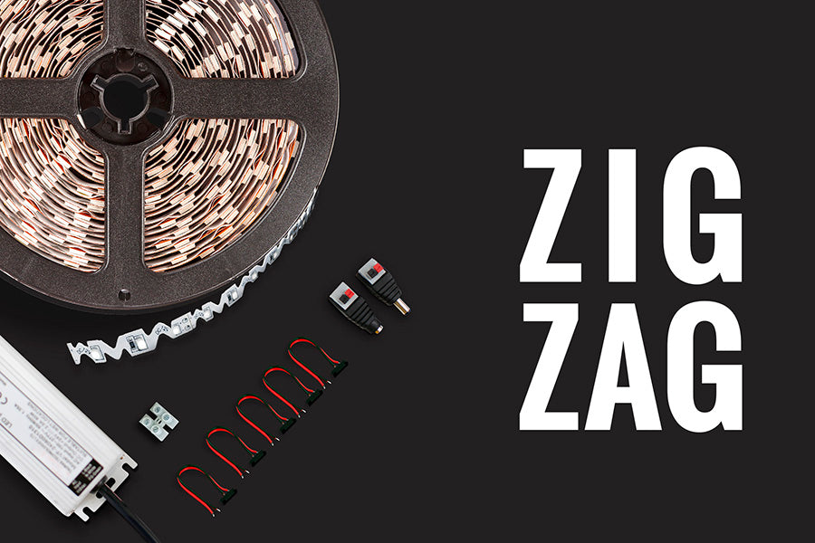 Kit de iluminación LED decorativo ZIG ZAG para interiores