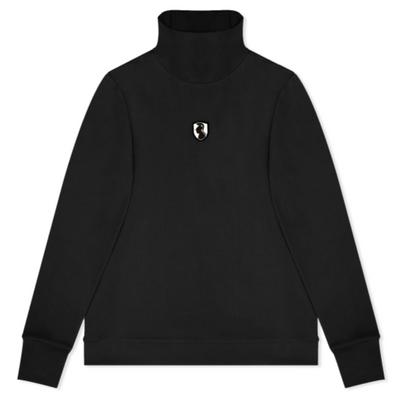 BLACK TURTLENECK LONG SLEEVE T-SHIRT - VHNY