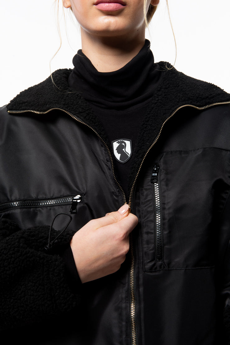 UNISEX REVERSIBLE WINDBREAKER - BLACK