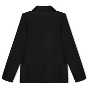 vhny black cold shoulder blazer