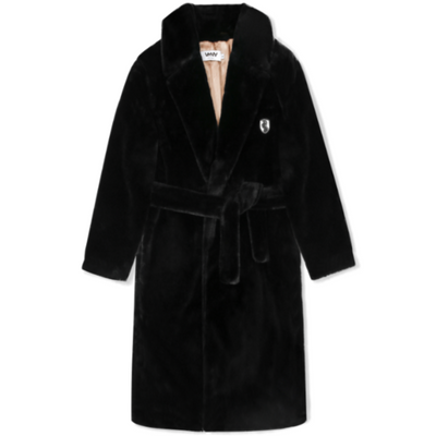 VHNY FAUX FUR TRENCH COAT