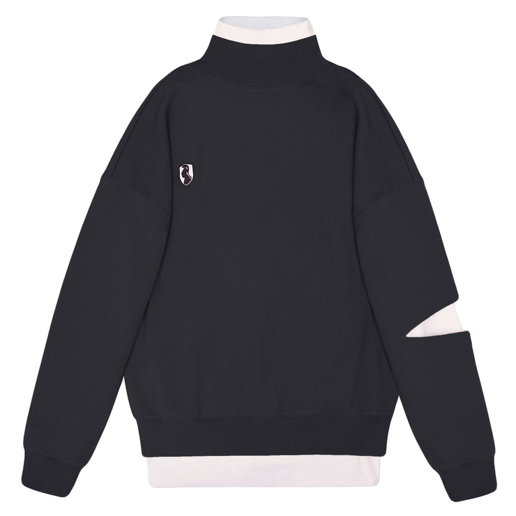 BI-LAYER SWEATSHIRT - BLACK