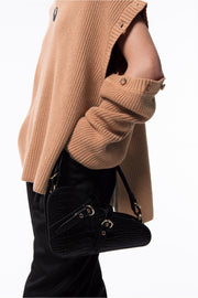 Turtleneck Knit Top - Sand