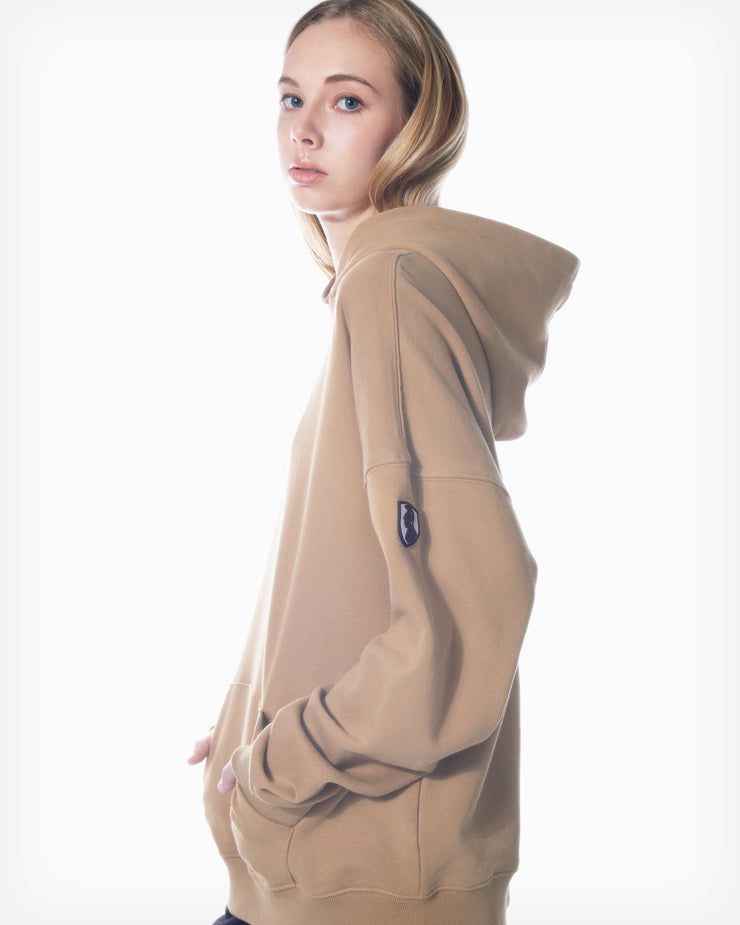 Logo Patch Hoodie - Sand