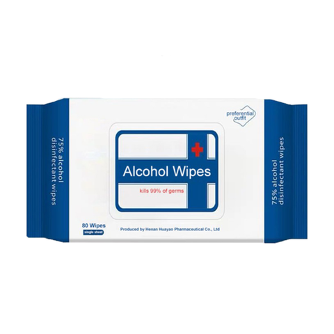 75% Alcohol Wipes, 80-pack - National PPE LLC