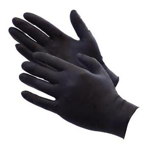 Black Nitrile Gloves, Industrial Use, 100-pack - National PPE LLC