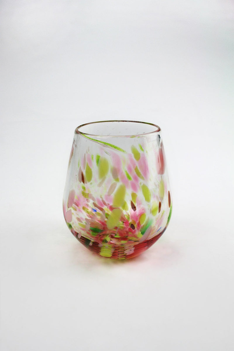 Stemless Wine Tumbler - Fireweed Series - Lumel Glass