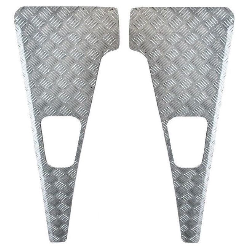 Checkered Plate Fender Tops Set Silver Defender A22011
