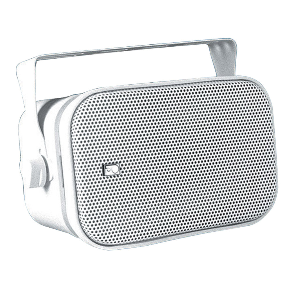 Poly-Planar MA800W Compact Box Speaker - (Pair) White [MA800W]