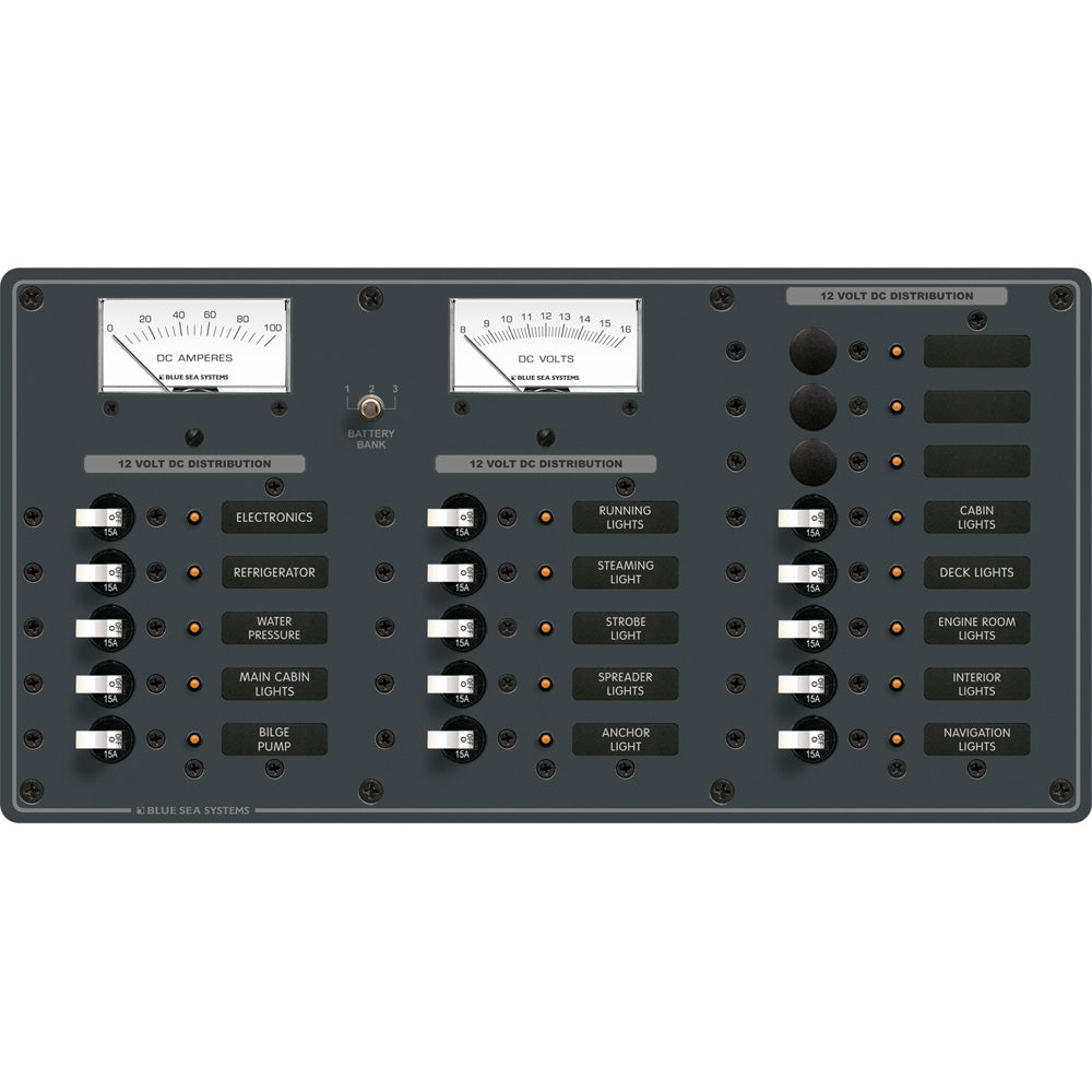 Blue Sea 8378 DC 18 Position Panel - White [8378]