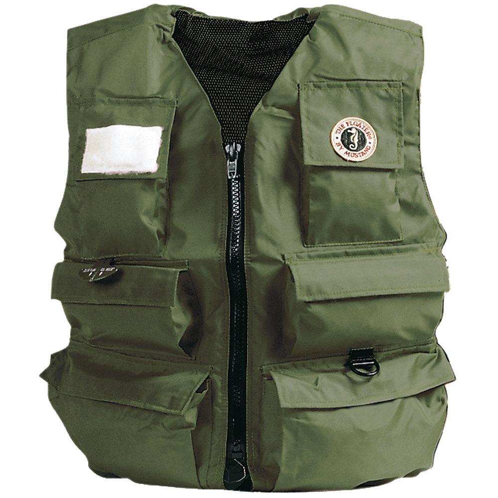 Mustang Inflatable Fisherman's Vest - Manual - XL - Olive [MIV-10-XL-OL]