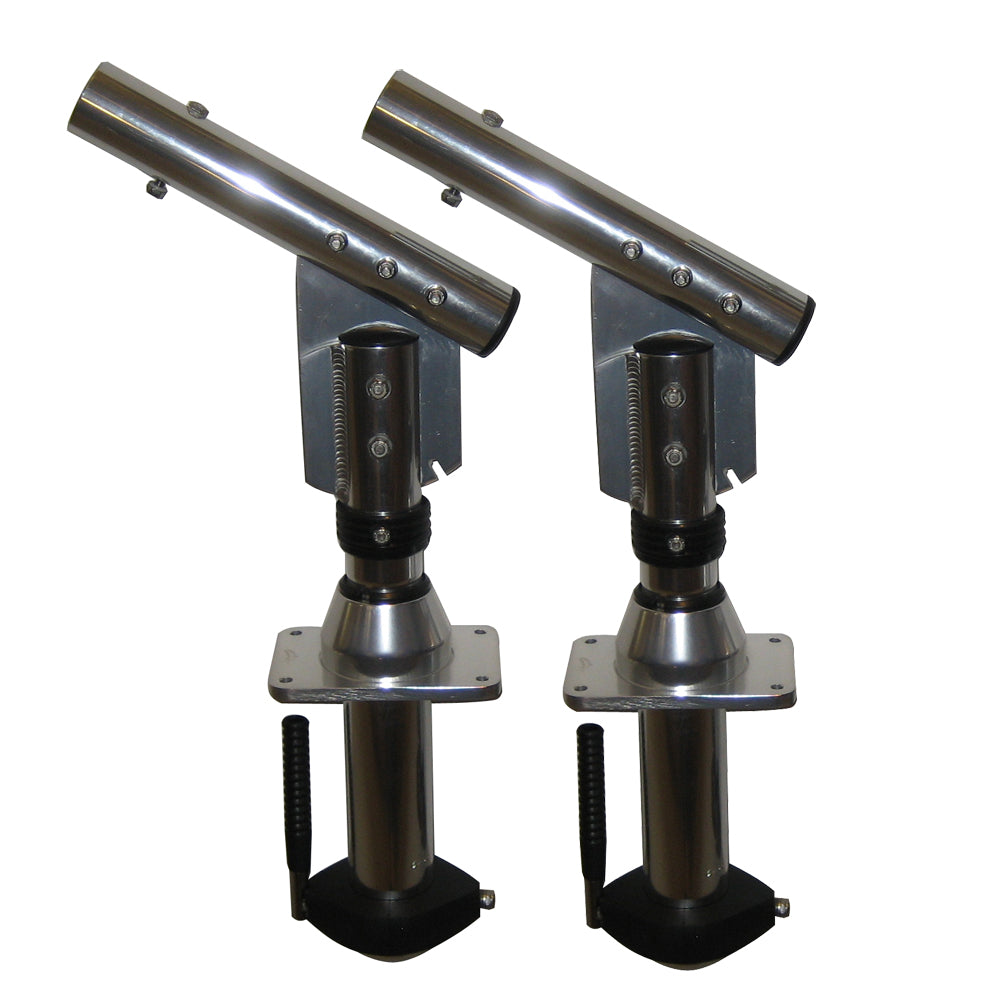 Lee's Sidewinder Bolt-In Outrigger Mounts, Lay-Down Version - Silver(Pair) [SW9300]