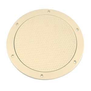 "Beckson 6"" Non-Skid Screw-Out Deck Plate - Beige [DP62-N]"