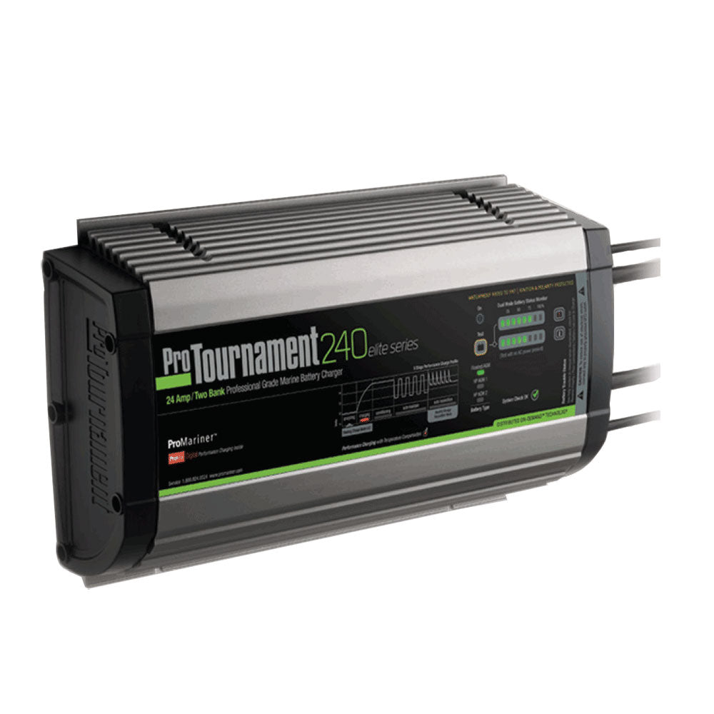 ProMariner ProTournament 240 elite Dual Charger - 24 Amp, 2 Bank [52024]