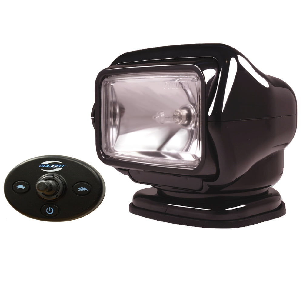 Golight Stryker Searchlight 12V w/Wired Dash Control & 20' Wire Harness - Black [3021]