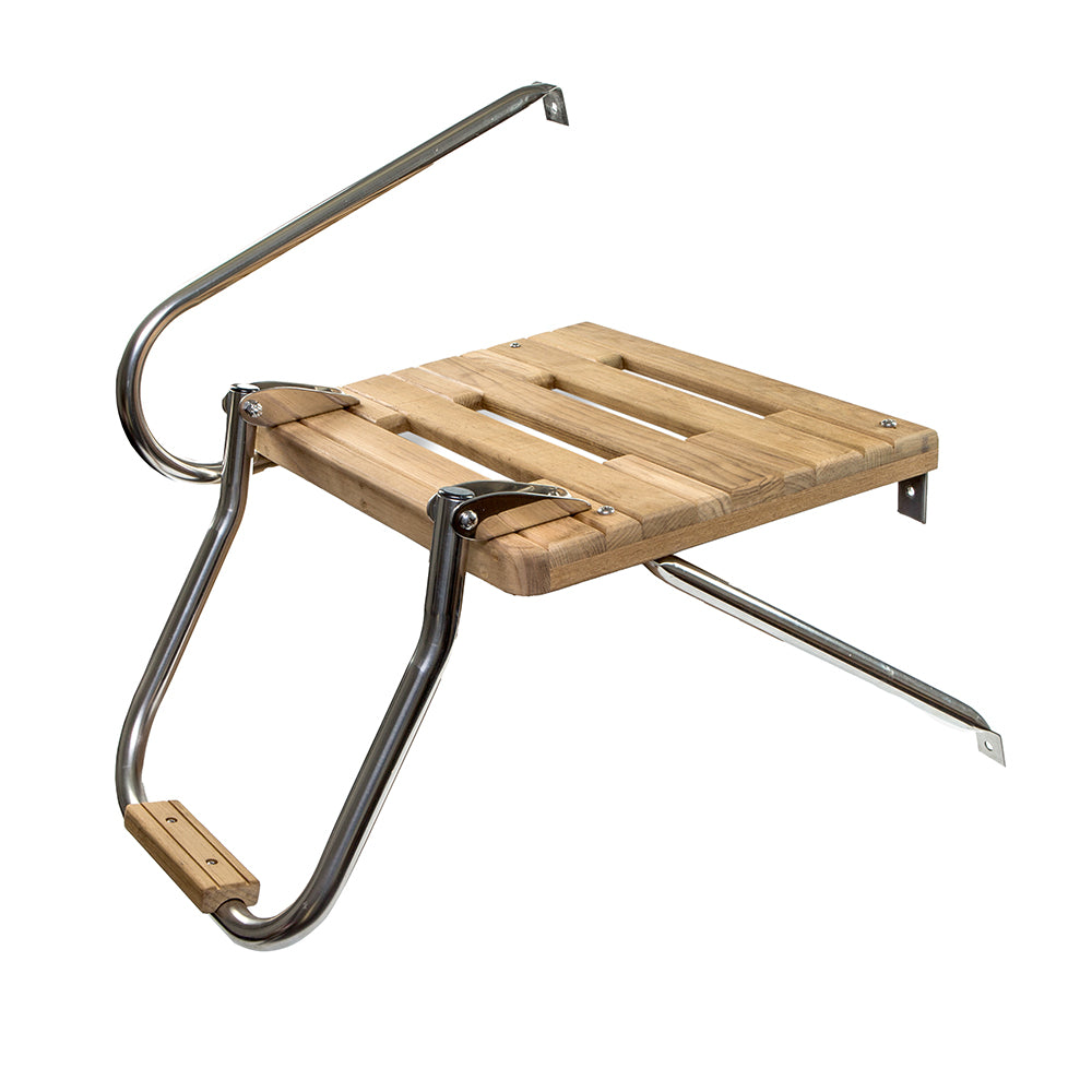 Whitecap Teak Swim Platform w/Ladder f/Outboard Motors [60902]