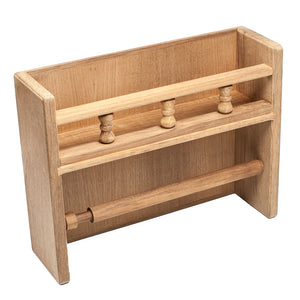 Whitecap Teak Paper Towel Holder w/Spice Rack [62446]