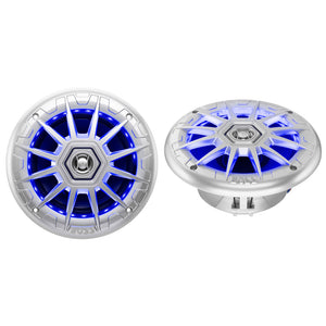 "Boss Audio MRGB65S 6.5"" 2-Way Coaxial Marine Speakers w/RGB LED Lights [MRGB65S]"