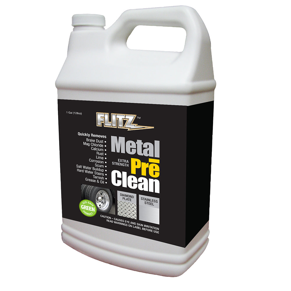 Flitz Metal Pre-Clean - All Metals Including Stainless Steel - Gallon Refill [AL 01710]