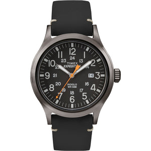 Timex Expedition Metal Scout - Black Leather/Black Dial [TW4B019009J]