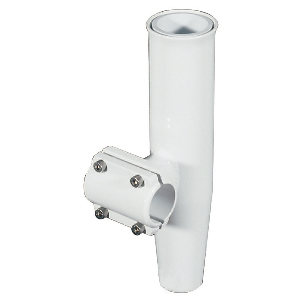 Lee's Clamp-On Rod Holder - White Aluminum - Horizontal Mount - Fits 1.315