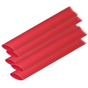 "Ancor Adhesive Lined Heat Shrink Tubing (ALT) - 1/2"" x 12"" - 5-Pack - Red [305624]"