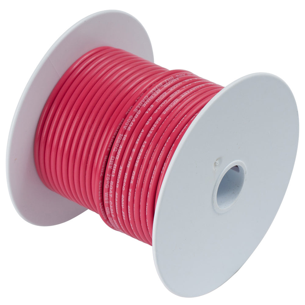 Ancor Red 12 AWG Tinned Copper Wire - 25' [106802]