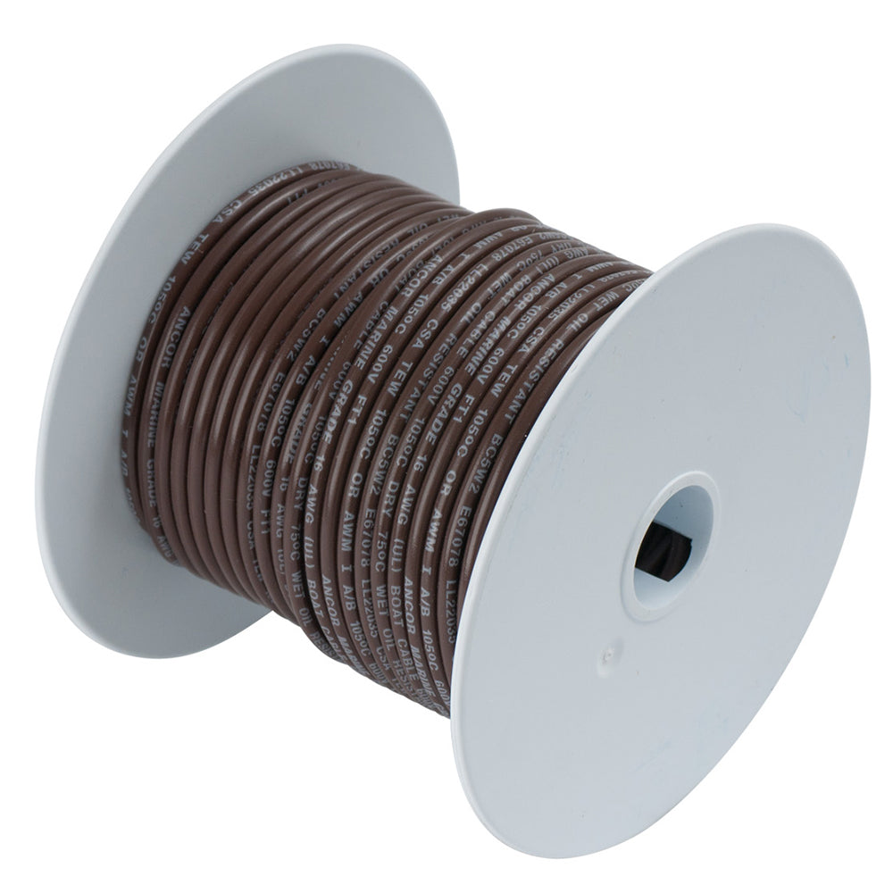 Ancor Brown 10 AWG Tinned Copper Wire - 100' [108210]