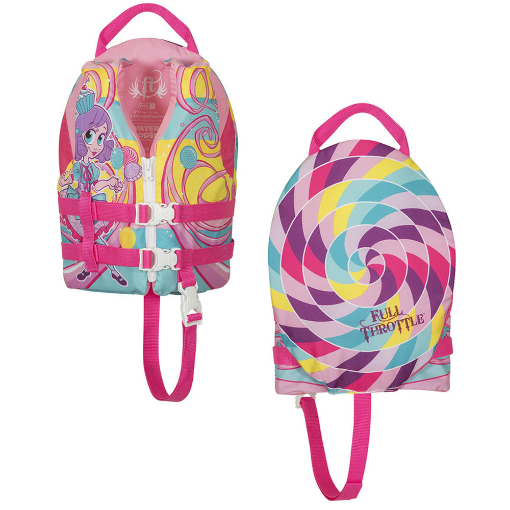 Full Throttle Water Buddies Life Vest - Child 30-50lbs - Princess [104300-105-001-17]