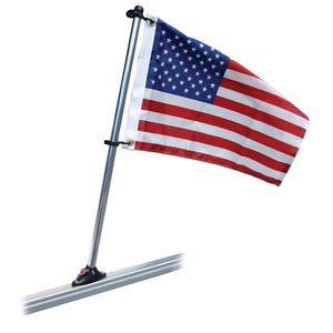 "Taylor Made Pontoon 24"" Flag Pole Mount & 12"" x 18"" US Flag [921]"