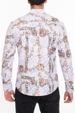 Load image into Gallery viewer, Men's Designer Printed Long Sleeves Slim Fit Dress Shirt
