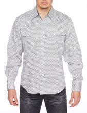 Load image into Gallery viewer, Men's Printed Long-Sleeves Dress Shirt with Snap Buttons