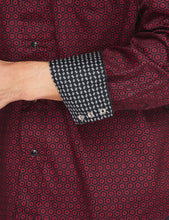 Load image into Gallery viewer, Mens Shirt Long Sleeve Printed Cuffs Dress Shirt with Snap Buttons