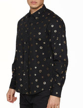Load image into Gallery viewer, Mens Shirt Designer Printed Long Sleeve Button Down Dress Shirt