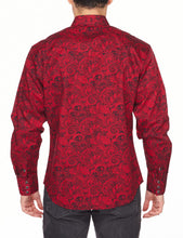 Load image into Gallery viewer, Men's Western Long-Sleeves Paisley Button-Down Shirt