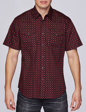 Load image into Gallery viewer, Men's Western Short-Sleeves Button-Down Shirt