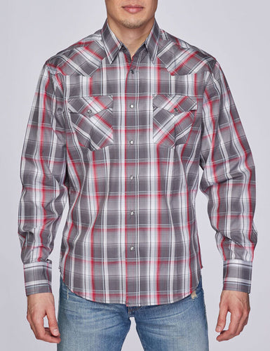 Men's Plaid Long-Sleeves Button-Down Shirt