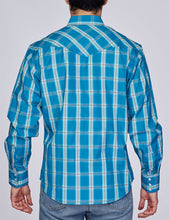Load image into Gallery viewer, Men's Plaid Long-Sleeves Button-Down Shirt