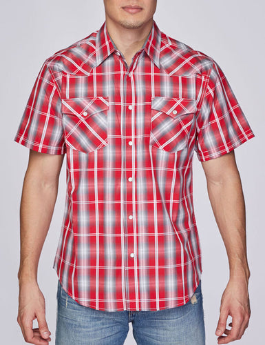 Men's Plaid Short-Sleeves Button-Down Shirt
