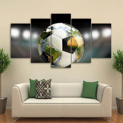 Tableau Globe Ballon De Football