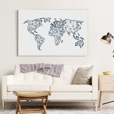 Toile Carte Du Monde Art