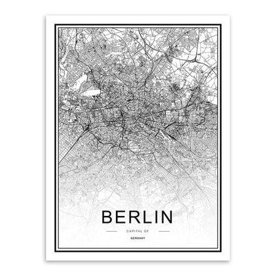 Toile Carte Du Monde Berlin