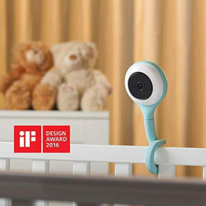 Baby Camera with True Crying Detection (Turquoise) Smart baby monitor with camera and audio with two way talk back. An ideal gift for baby shower. Comes with Infrared Night Vision.